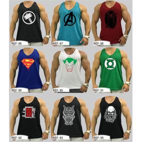 2 Regatas Academia Regata Cavada Algodão Camiseta Camisa