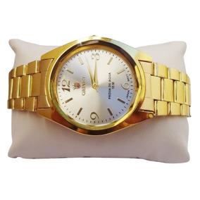 Promoção Relógio Feminino Oniret Dourado F.grátis + Brinde