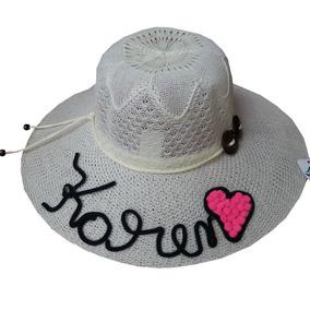 Chapéu De Praia Feminino Personalizado Com Nome Que Quiser!!