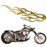 Adesivo Carro Moto Notebook Chama Fogo Dourado Fretegrátis
