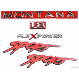 Emblemas Montana 1.8 Flex Sport - Até 2006 - Modelo Original