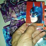 Lote Figuritas Tarjetones Dc Comic Batman Robin Ypf 90s Rfan