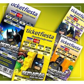 Lego Batman Invitacion Editable Photoshop Para Diseño Grafic