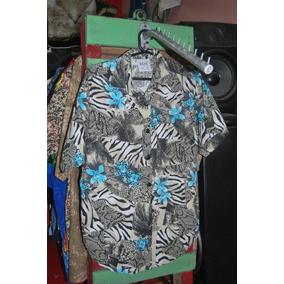 Camisa Hawaiana De Mujer Original 80s Made In Usa C 1517