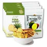 Piña + Mango Deshidratado (caja 9 Piezas)