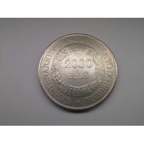 Moeda Brasil 2000 Reis 1900 Prata Original