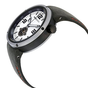 Momo Design Evo Automático Negro Dial Cuero Negro Reloj Par
