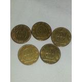 L 200 Liras Italianas Monedas