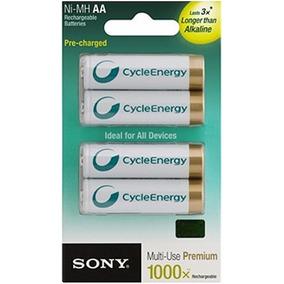 Baterías Recargables Sony Aa 1.2v 2100mah Blister 4 Unidades