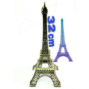 Torre Eiffel 32 Cm - Adorno Para Fiestas, Bodas, Xv Años...