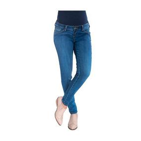 Jeans Maternal Pitillo Medium Light Madremía. Madremía
