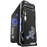 Gabinete Eagle Warrior Blade Vp Azul Gaming Ventilador Usb3