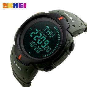 Relógio Masculino Militar Digital Com Bússola À Prova D