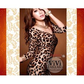 Sexi Mini Vestido Animal Print Ajustado Antro Bar Fiesta