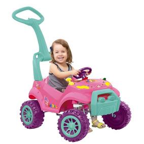 Mini Carro Smart Rosa Com Pedal Quadriciclo Bandeirante
