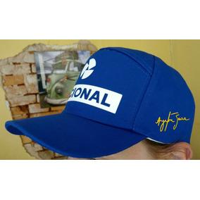2b2e171c54752 Boné Ayrton Senna Nacional Decada 90 Formula 1 - Bonés Outras Marcas ...