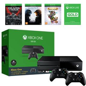 Xbox One 500gb + 2 Controles + 3 Jogos + Live