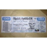 Entrada Iron Maiden Platea Alta En El Kempes Cba