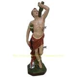 Escultura São Sebastião Imagem 70cm Estatua Flecha De Metal