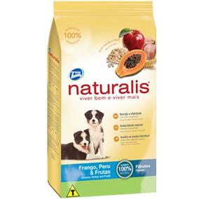 Ração Naturalis Frango Peru Frutas Cães Filhotes 15kg