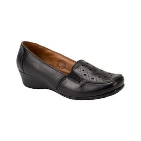 Zapato Cómodo Con Cuña Shosh 142714 Negro Pcf 1-18