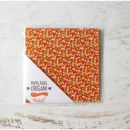 Florcitas Rojas - Papel Para Origami 10x 10 Cm