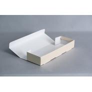 Caja Rectangular 38x12x6 Cm C/ 3 Divisiones De 12x11,3 Cm (x 50 U.) Porción Individual Lingotes Postres - 056b3 Bauletto