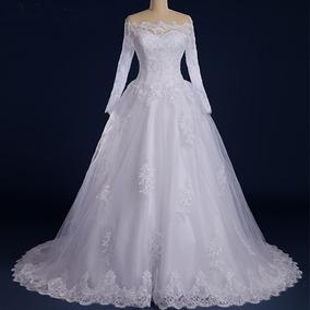 Vestido Noiva Casamento Manga Comprida Pronta Entrega 42fli