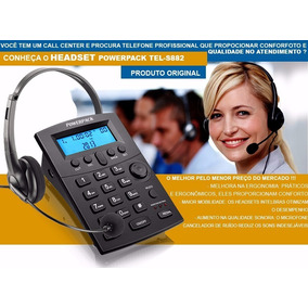 Telefone Fixo Com Ident. + Headset Powerpack Tel-s882 Bk