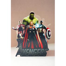 10 Centro Mesa Infantil Vengadores Centro Avengers Madera