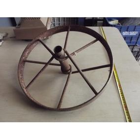 Roda De Ferro Antiga Carrinho De Mão #1728