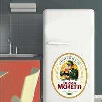 Adesivo Geladeira Parede Cerveja Italiana Birra Moretti