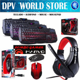 Teclado Gamer Marvo K400 + Mouse Marvo M205 + Audifono H8329