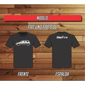 Remera Fiat Uno Fire 3p Side 100% Algodon - Ac Estampas