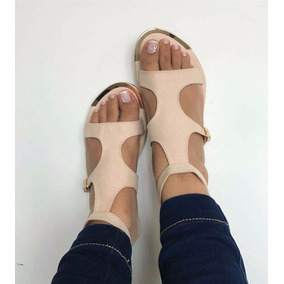 Calzado Sandalia Elegante Beige Para Dama Ventas Al Detal