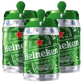 Combo Festa Kit 3 Barril Heineken 5l Vencimento Longo