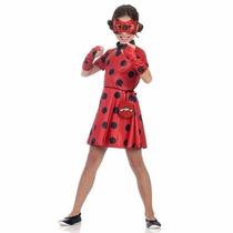 Fantasia Miraculous Ladybug Vestido Sulamericana P 3-4 Ano