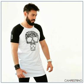 Camiseta Long Line Principado/ Tam. P / Cor Branca