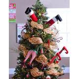 Arbol De Navidad Piernas De Duende Y Santa $990.00