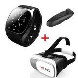 Combo Smart Watch M26 + Lentes Realidad Virtual 3d Vr Box 2