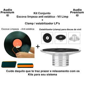 Clamp Estabilizador + Escova Limpeza - Discos De Vinil