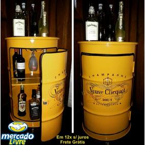 Barril Decorativo Oficial Do Brasil Tambor Latão Luxo