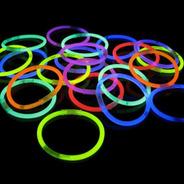 Pulseras X 50 Neon Luminosa Química Luz Cotillon Pulsera