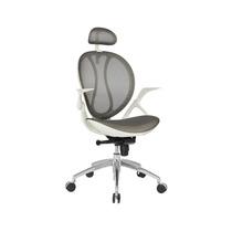 Cadeira De Escritório Sintra Branco C/cinza Base Alumínio