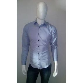 Camisa De Vestir Para Caballero Color Azul
