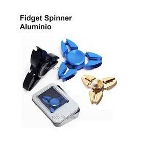 Fidget Hand Spinner Metal Aluminio Tornasol Anti Estrés Lujo