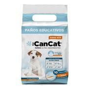 Paños Pañales Entrenamiento Perros 60x60 Cancat X10