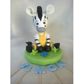 Cebra Zou Adorno Para Torta Porcelana Fría