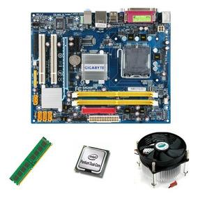 Kit Placa Mãe Lga 775 Ddr2 + Cpu + 2gb Memoria+ Cooler