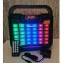 Caixa De Som Bluetooth+usb+fm+aux+sd+entrada Mic E Guitarra